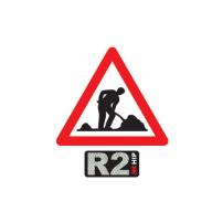 Gefahrensignale 1.14/R2 HIP 90cm Bauarbeiter